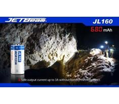 Akumulator ogniwo 3,7V RCR123A 680mAh JETBEAM JL160 Li-Ion