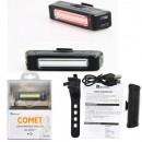 COMET lampa rowerowa tylna USB 100lum led COB