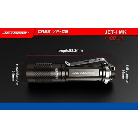 JETBEAM/NITEYE JET-1 MK latarka mini Cree XP-G2 480 lum 1xAA/14500 li-ion