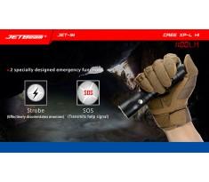 Latarka taktyczna JETBEAM/NITEYE JET-IM Cree XP-L Hi 1100 lumenów port USB 1x18650