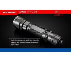 Latarka taktyczna JETBEAM/NITEYE JET-IIM Cree XP-L Hi 1100 lumenów 1x18650 2xCR123