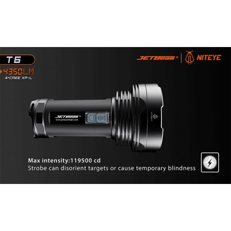 JETBEAM / NITEYE T6 4350 lum 4xCree XP-L 4x18650 Li-ion