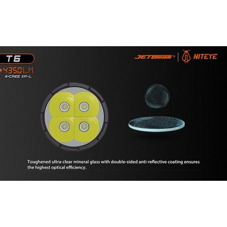 JETBEAM / NITEYE T6 4350 lum 4xCree XP-L 4x18650 Li-ion