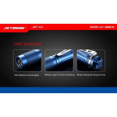 Latarka UV Ultrafiolet JETBEAM JET-UV mini Cree 3535-UV-365nm