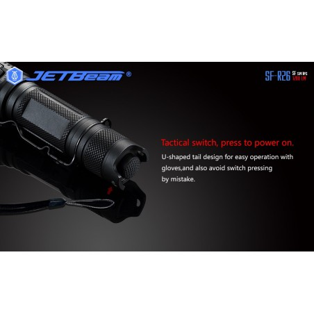 Latarka outdoor JETBEAM SF-R26 Cree XP-L 1200lum port USB