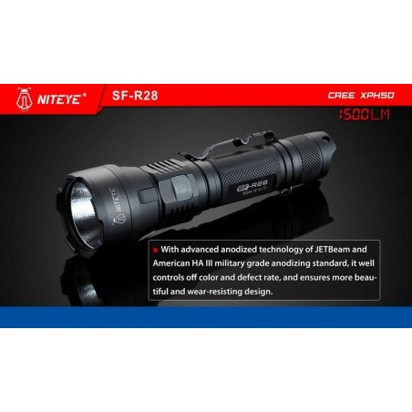 Latarka outdoor JETBEAM SF-R28 Cree XHP50 1500lum port USB