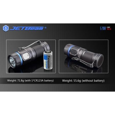 Latarka NITEYE E20R Jetbeam LED SST40 N4 BC 990 lum akumulator 1X CR123 port USB
