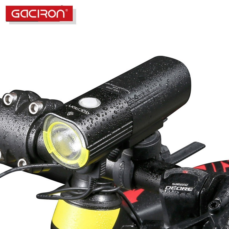 Lampa rowerowa GACIRON V9S-1000 Cree XML2 port USB Power Bank