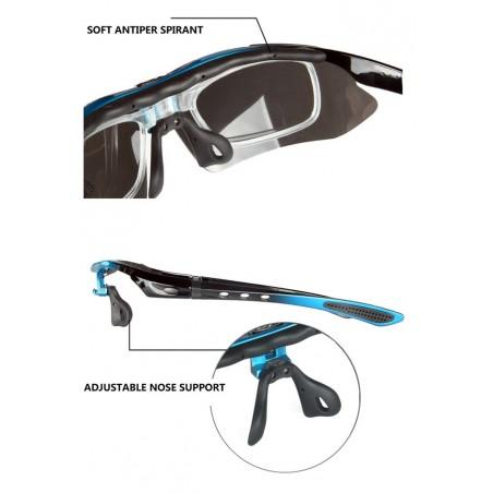 Okulary sportowe POLARYZACYJNE OBAOLAY 5 wymiennych szkieł