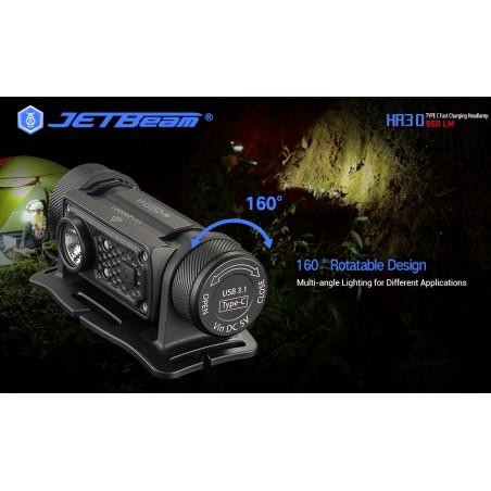 Latarka czołowa JETBEAM / NITEYE HR30 LED SST40 N5 port USB C + akumulator
