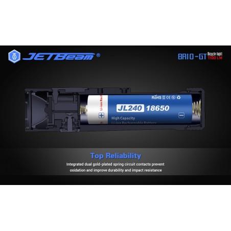 Latarka na rower JETBEAM BR10GT 1100 lum SST40 USB