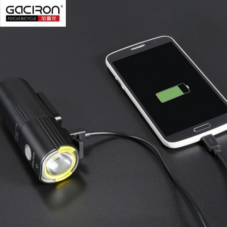 Lampa rowerowa GACIRON V9S-1000 Cree XML2 port USB Power Bank