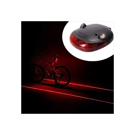 Tylna lampa rowerowa 5 LED + 2 lasery