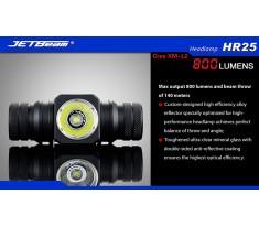 Latarka czołowa JETBEAM HR25 USB 800 lumenów