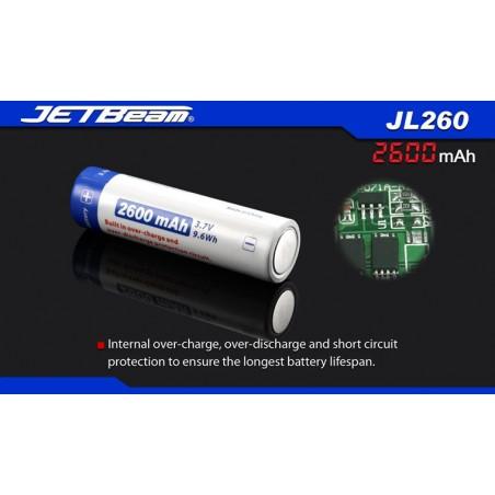 Akumulator 18650 2600mAh JETBEAM JL260
