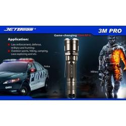 Latarka JETBEAM 3M PRO taktyczna - Cree XP-L premium 1100 lumenów