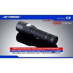 Latarka JETBEAM C8 Cree XM-L2 z USB 1000 lumenów