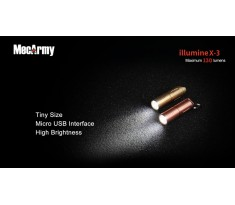 MecArmy illumineX-3 130lum Mini latarka USB Cree XP-G2 Miedź, Mosiądz