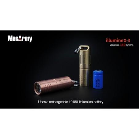 MecArmy illumineX-3 130lum Mini latarka USB Cree XP-G2