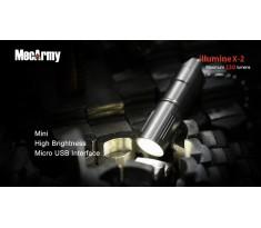 MecArmy illumineX-2 130lum Mini latarka USB Cree XP-G2 Stal Nierdzewna