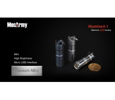 MecArmy illumineX-1 TYTAN 130lum Mini latarka USB Cree XP-G2