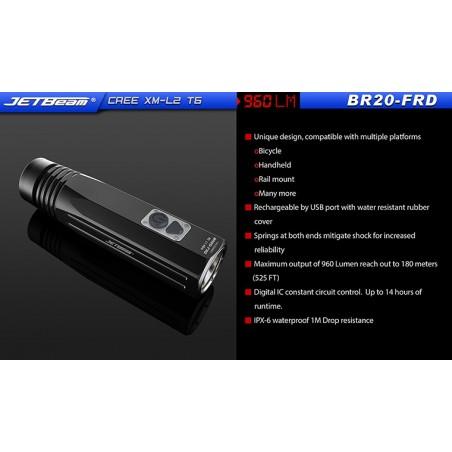 Latarka na rower JETBEAM BR20-FRD XM-L2 port USB 960