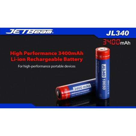 Akumulator ogniwo 3,7V 18650 3400mAh JETBEAM JL340 Li-Ion