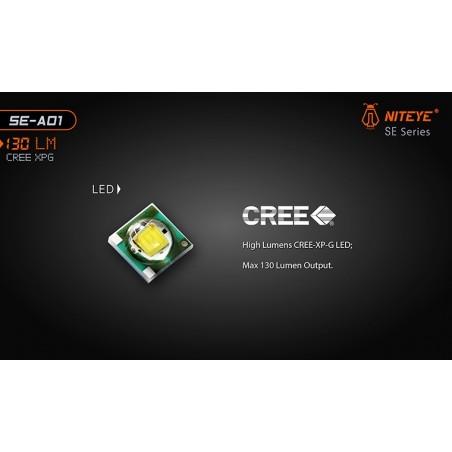 Latarka mini NITEYE SE-A01 Cree XP-G2 130lum
