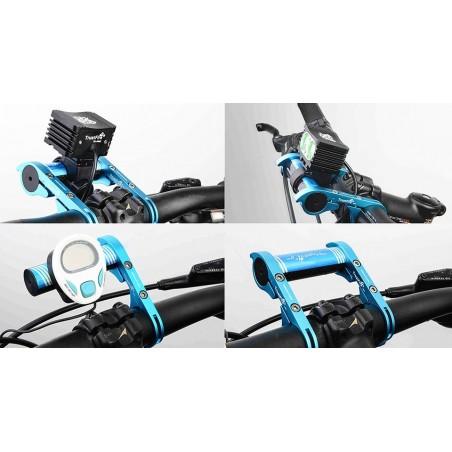 TrustFire HE01 uchwyt na kierownicę aluminium-karbon